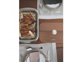 Assadeira Aço Inox com Tampa de Vidro 38,5x25,2cm - Tramontina