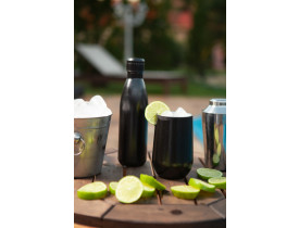 Copo Térmico Cerveja ou Drink 450ml Preto - Mokha