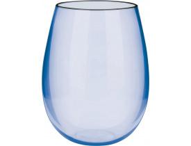 Jogo 2x Copos Blow Azul Cristal 580ml em Acrílico - Boccati