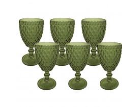 Jogo de Taças para Água Verde Verre com 6 Peças - Mimo Style