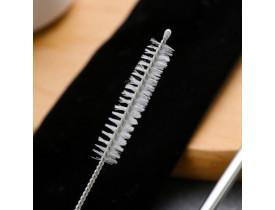 Conjunto de 2x Canudos Inox Reutilizável Furta-Cor com 1x Escova - Mimo Style