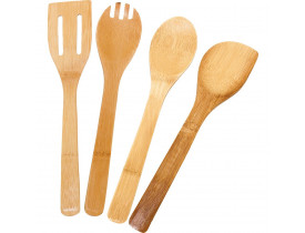Kit De Utensílios 5 Peças Bambu Ecokitchen - Mimo Style