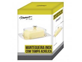 Manteigueira Inox com Tampa em Acrílico - Mimo Style