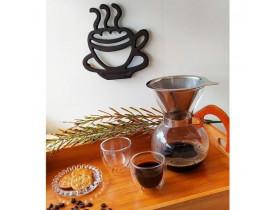 Passador de Café em Vidro Borossilicato 650ml com Coador em Aço Inox - Mimo Style