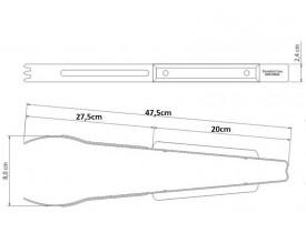 Pegador para Carne Inox Polywood 47,5cm - Tramontina