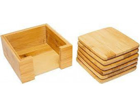 Porta Copos em Bambu com Suporte - Mimo Style