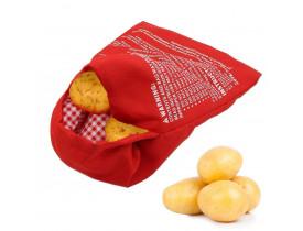 Saco para Assar Batatas no Microondas Vermelho - Hudson