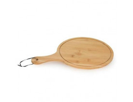 Tabua Gourmet Redonda com Alça Ø26cm em Bambu - Mimo Style
