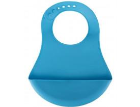 Babador de Silicone Azul para Bebes - Mimo Style
