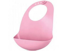 Babador de Silicone Rosa para Bebes - Mimo Style