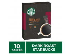 Café Solúvel Dark Roast Caixa com 10 Saches - Starbucks