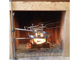 Churrasqueira para Lareira em Aço Inox - To Cook