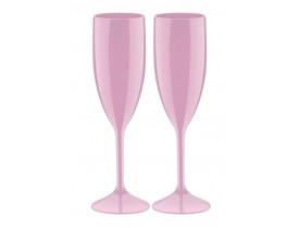 Conjunto 2x Taças Espumante 210ml Rosa Claro - Boccati