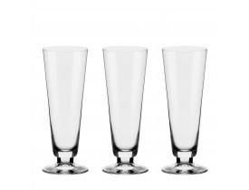 Conjunto 3x Taças de Cristal para Cerveja 380ml Alumina - Oxford