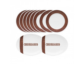 Conjunto Churrasco Tradição 10 Peças - Oxford