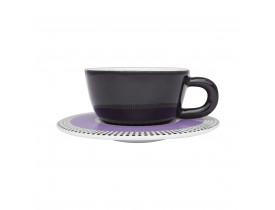 Conjunto com 6x Xícaras de Chá 200ml com Pires Moon Candy Dots - Oxford