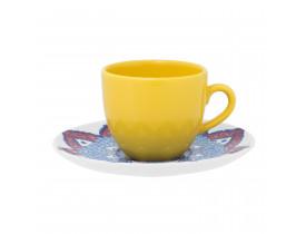 Conjunto com 6x Xícaras de Chá 200ml com Pires Coup Harmony - Oxford