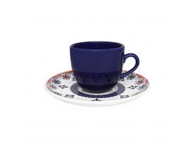 Conjunto com 6x Xícaras de Chá 200ml com Pires Coup Shanti - Oxford