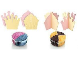 Conjunto de 12 Separadores de Massa para Cupcake/Muffin em Plástico - Fackelmann