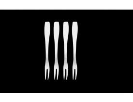 Conjunto de Garfinhos para Petiscos e Escargot 4 Peças Verona 13cm - Brinox
