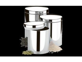 Conjunto de Potes para Mantimentos com Tampa 3 Peças Suprema - Brinox