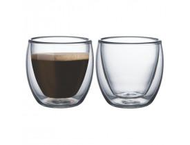 Conjunto de Xícaras de Vidro Duplo para Café 110ml 2 Peças - Tramontina
