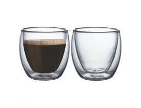 Conjunto de Xícaras de Vidro Duplo para Café 80ml 2 Peças - Mimo Style