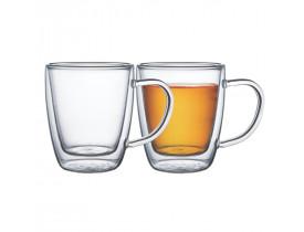 Conjunto de Xícaras de Vidro Duplo para Chá 270ml 2 Peças - Tramontina