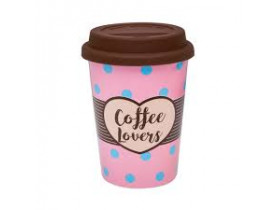 Copo Trip com Tampa de Silicone 300ml Coffee Lovers - Oxford