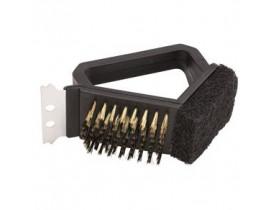 Escova de Aço Curta para Limpar Grelha 3x1 - Mimo Style