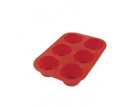 Forma de Silicone para 6 Cupcakes Liso - Mimo Style