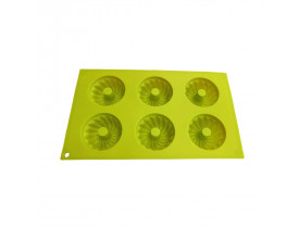 Forma de Silicone para 6 Cupcakes/Pudim - Mimo Style