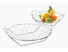 Fruteira Cromada de Mesa com Alça 36X8cm - Stolf
