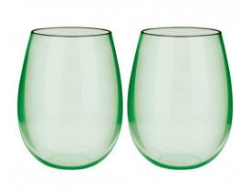 Jogo 2x Copos Blow Verde Cristal 580ml em Acrílico - Boccati
