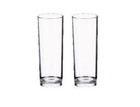 Jogo 2x Copos Long Drink 370ml Transparente em Acrílico - Boccati