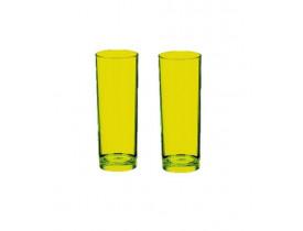 Jogo 2x Copos Long Drink 370ml Verde Neon em Acrílico - Boccati