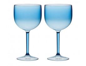 Jogo 2x Taças para Gin Azul Cristal 560ml em Acrílico - Boccati