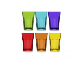 Jogo 6x Copos Aras Coral Long Drink 365ml - Mimo Style