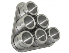 Jogo com 6 Porta Temperos Magnéticos - Mimo Style