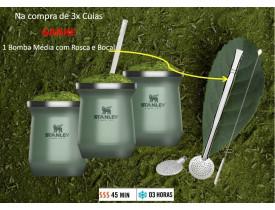 Jogo de 3x Cuias Térmica Verde Classic 230ml - Stanley
