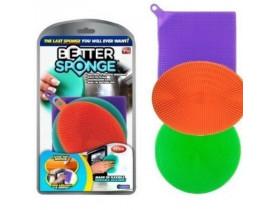 Kit 3x Esponja para Lava Louça em Silicone - MR Gifts