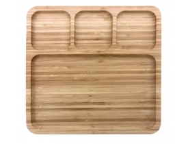 Petisqueira Quadrada em Bambu - Mimo Style