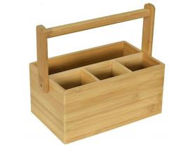 Porta Talheres Bambu com Alça - Mimo Style