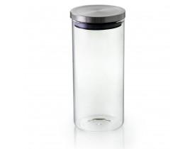 Pote Borossilicato de Vidro com Tampa Inox 1,3l - Mimo Style