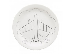 Prato Raso Temático Infantil de Aviãozinho - Oxford