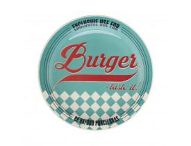 Prato Raso Temático para Hambúrguer Blue - Oxford