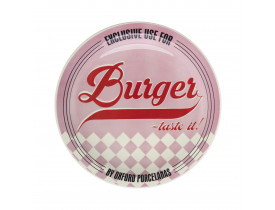 Prato Raso Temático para Hambúrguer Pink - Oxford