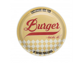 Prato Raso Temático para Hambúrguer Yellow – Oxford