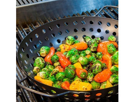 Wok Furada para Grelhar Legumes na Churrasqueira Ø34cm - Prana